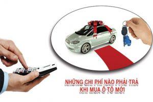 chi phi mua xe ô tô mới